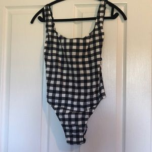 NWT | Jcrew one piece gingham swimsuit